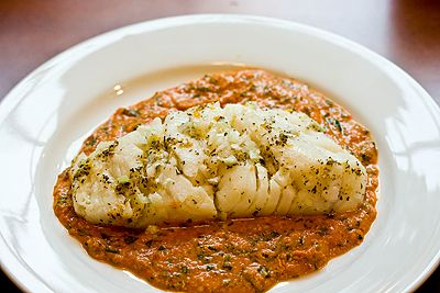 Black Bass Sicilian Pesto