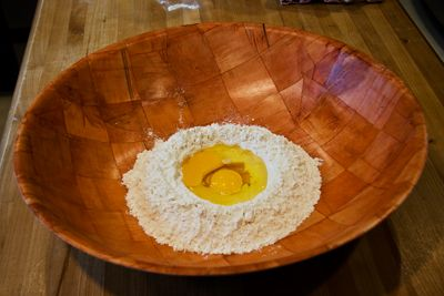 Flour With Egg in Well