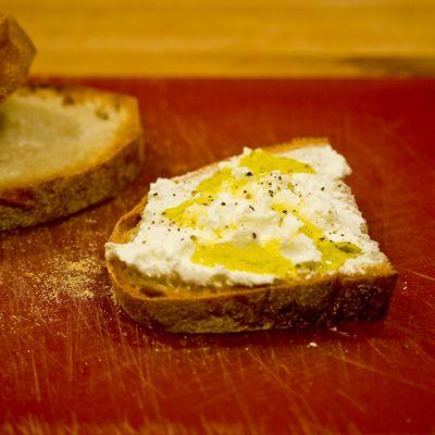 Italian Bread with Fresh Ricotta