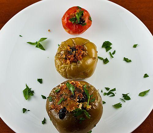 Stuffed Vinegar Peppers