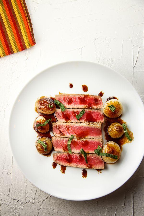 Seared Tuna With Sweet and Sour Cipollini