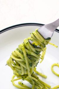 Pesto On Fork