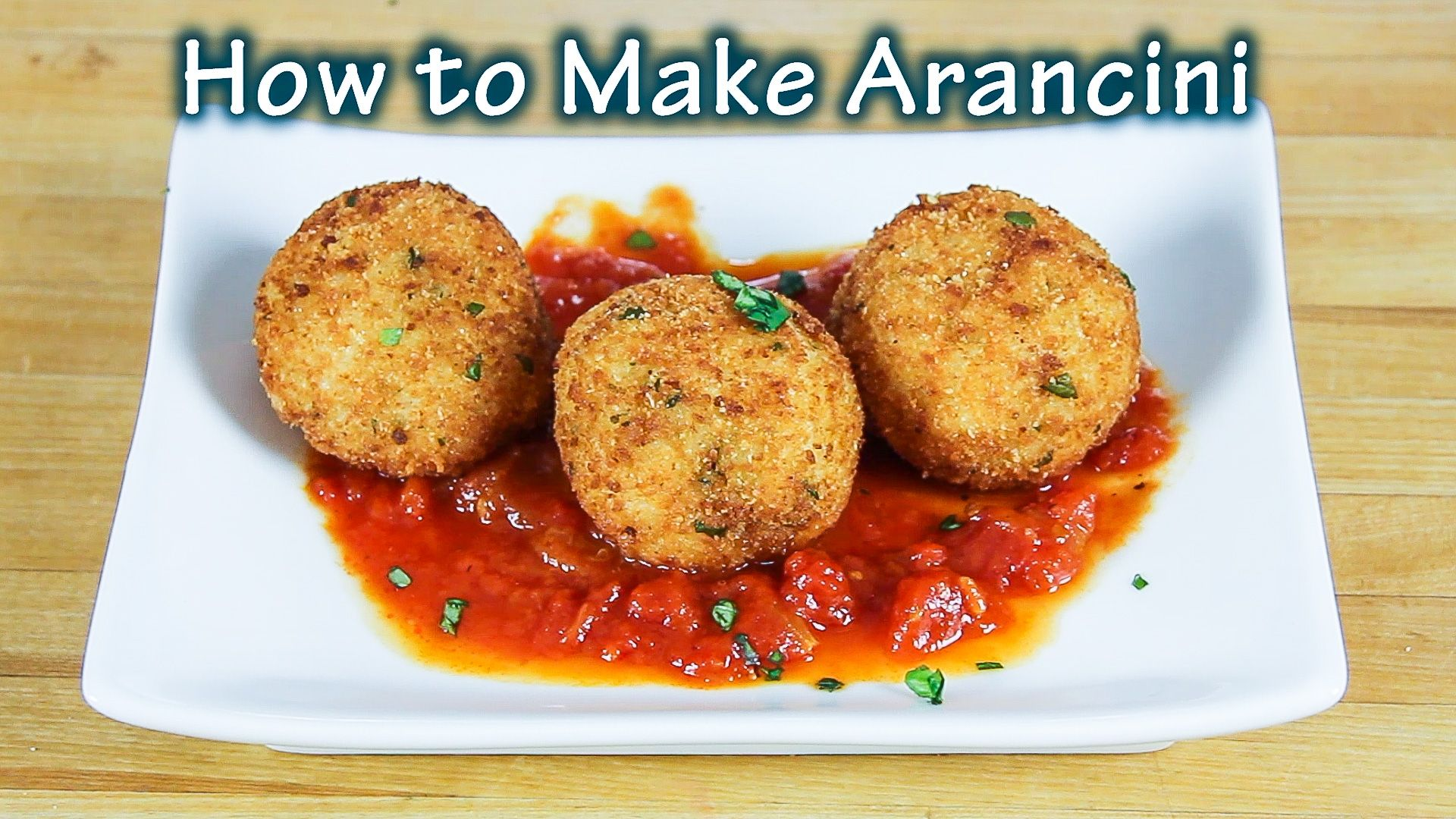online cooking class - how to make arancini