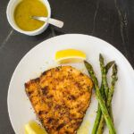 Grilled Swordfish with Breadcrumbs